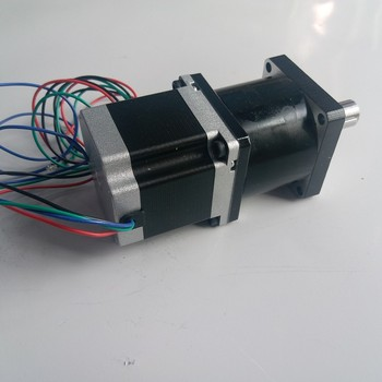 NEMA23 Ratio 5:1 stepper motor with Planetary gearbox reducer Motor length 76mm 1.8NM 3A 4 Wires for CNC