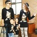 Rei leão família mesma roupa camisas de manga longa T família vestuário mãe / mãe e filha pai e filho roupas, Cy20