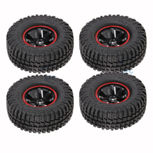 4pcs 1.9 inch RC Car Wheel Rims & Weel Tire Tyre For 1/10 RC4WD D90 Tamiya CC01 Axial SCX10 4pcs 1 10 rc rock crawler 2 2 rubber tyre wheel tires for axial scx10 tamiya cc01 rc4wd d90 rc climbing car parts