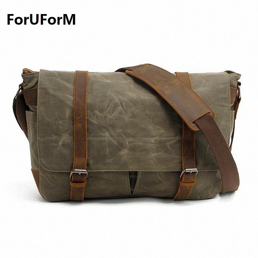 Vintage New new High Quality Waterproof canvas messenger Bag SLR Camera Shoulder Bag Travel crossbody Bag LI-1382 - intl
