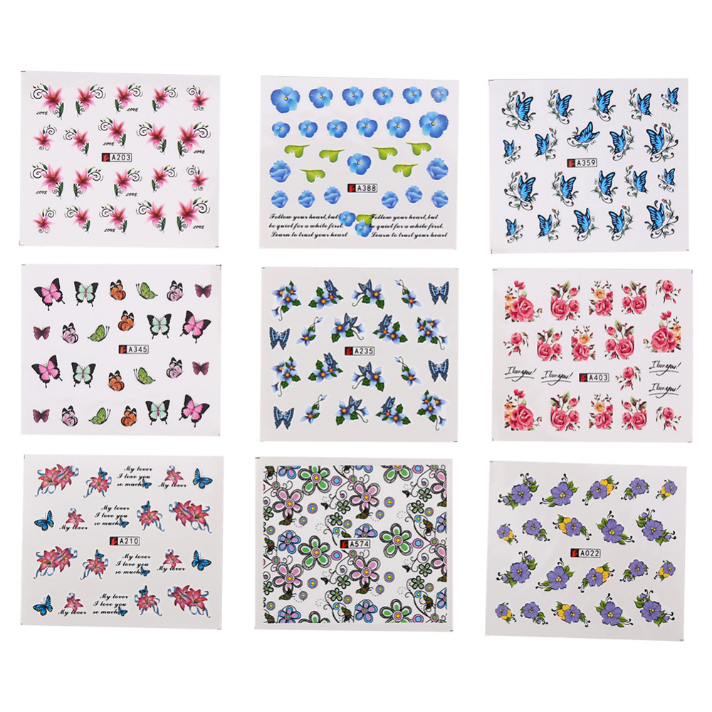 50 Sheets Nail Art Decorations Stickers 3D Flower Designs Nail Decal Sticker Self-Adhesive Manicure Accessory Decoration Hot сумка women messenger bags leather handbag shoulder bag new