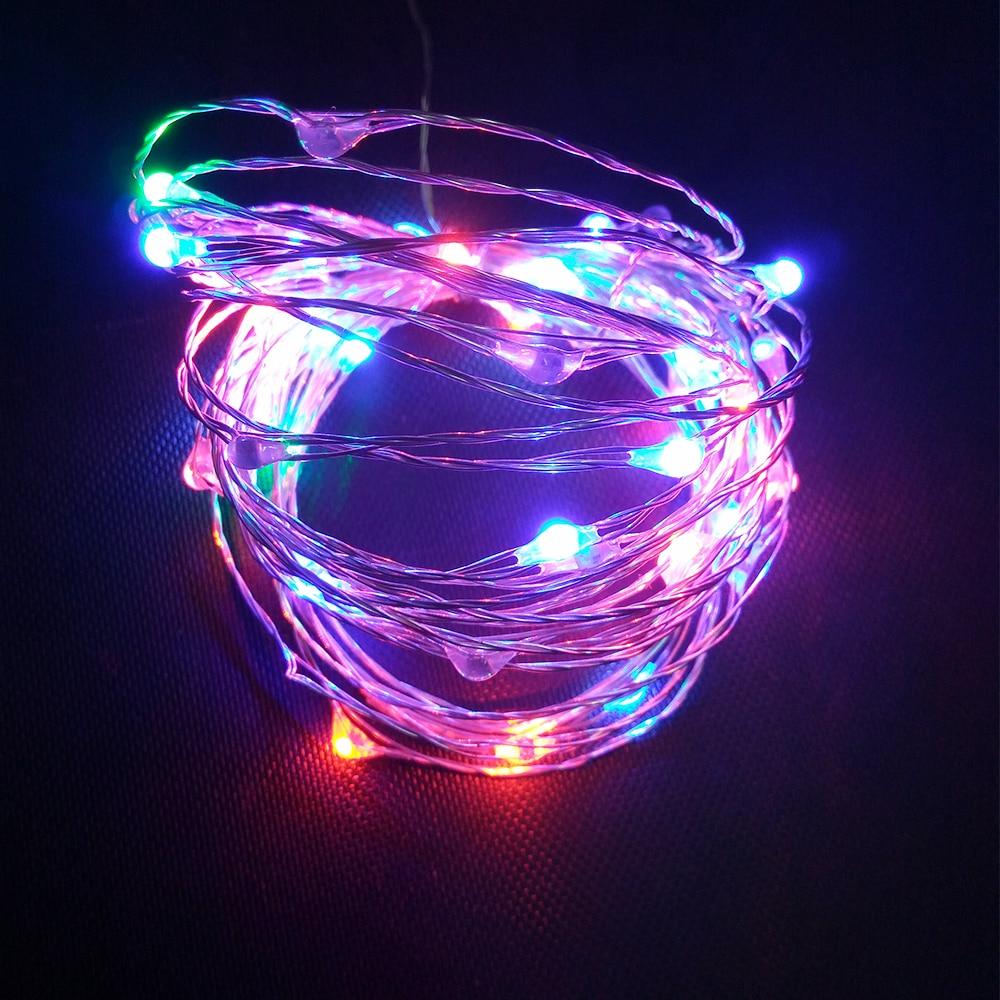 Рождество огни 10 м 5 м Гирлянды светодиодные Свет USB Водонепроницаемый гирляндой для вечерние свадебные праздничные светодиодный свет укра...