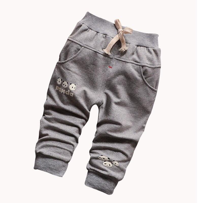 0-2 year-old boy / girl cute panda pattern fashion casual 100% cotton baby pants knit pants 2016 new baby boy hockey sock