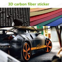 Custom Carbon Fiber Vinyl 3D Stickers Car Styling Modification Of Body Interior Decoration Protection Stickers 128X16cm/roll
