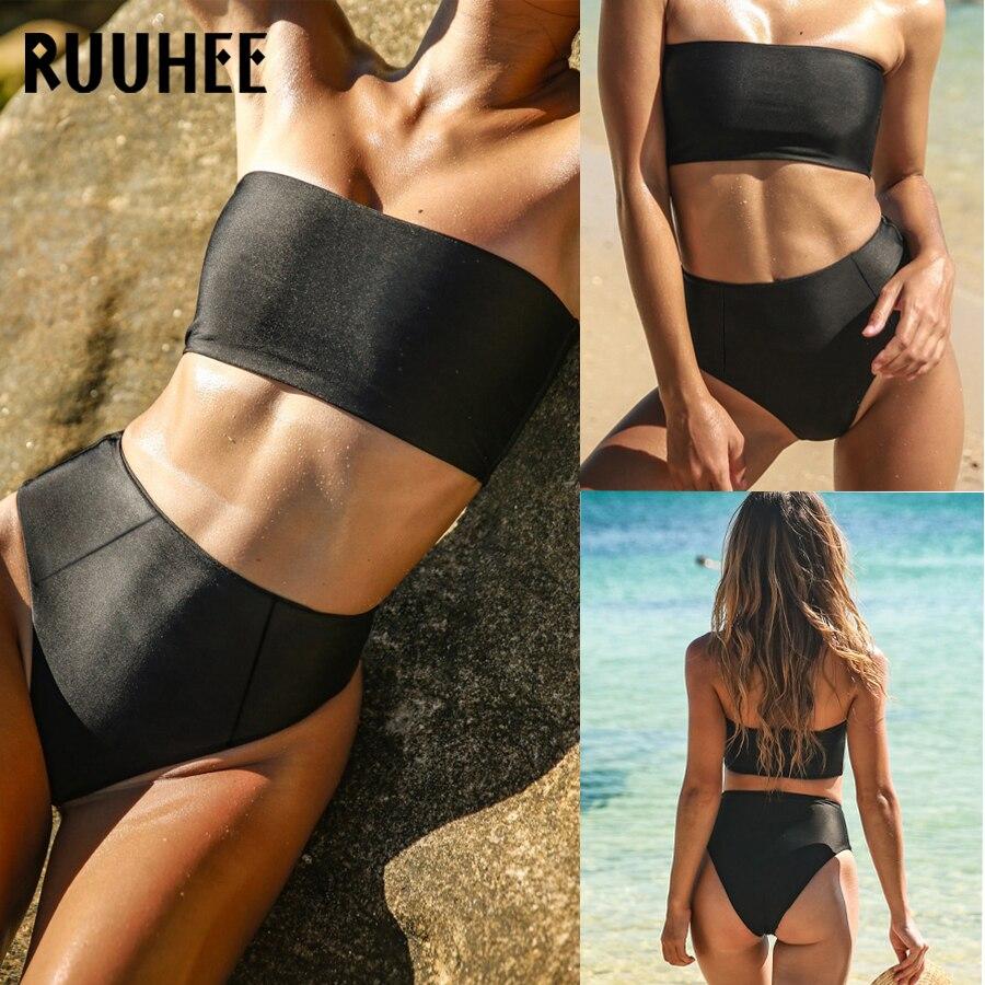 RUUHEE Verband Bikini Bademode Frauen Badeanzug Hohe Taille Bikini Set 2018 Badeanzug Push Up Maillot De Bain Femme Beachwear