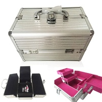 25*16*17cm Cosmetic Organizer Multi Compartment Cosmetic Organizer Makeup Tools Storage Box Case Makeup Storage Jewelry Box