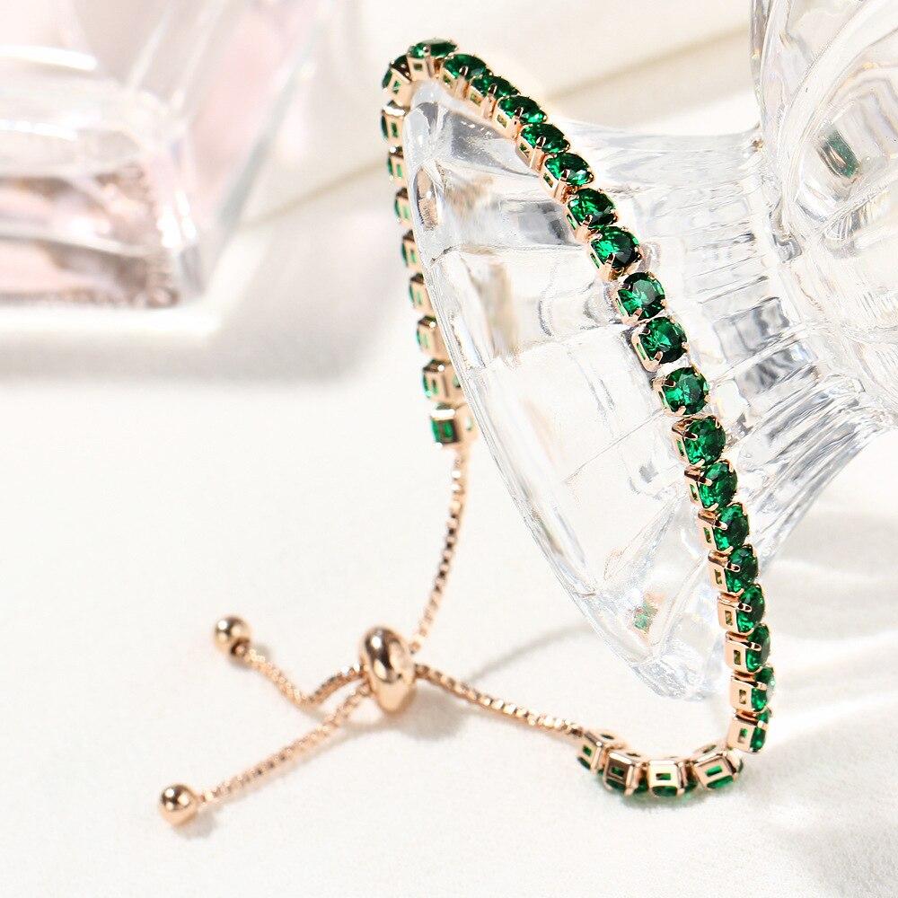 Fashion CZ Crystal Tennis Bracelet Luxury 4mm Shiny Cubic Zirconia Round Bangle For Women Men Rhinestone Charm Bridal Jewelry