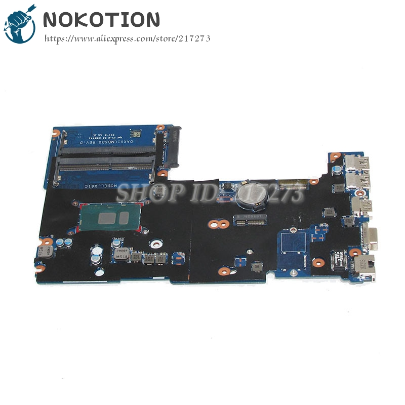 NOKOTION 826376-001 DAX61CMB6D0 Notebook PC Main Board For HP probook 430 G3 440 G3 Laptop motherboard SR2EV 3885U CPU