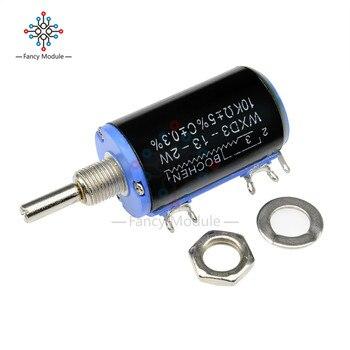 цена на WXD3-13-2W 10K ohm Multiturn Wirewound Potentiometer Adjustable Resistor