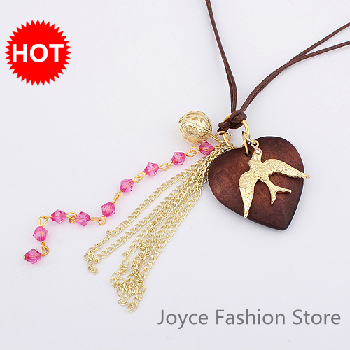 Min Order $10,2013 Statement Necklace,Long Necklace Jewelry,VIntage Charms Heart Bird Necklaces Fashion,N20