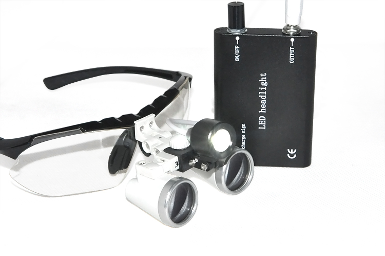 Portable Black LED Head Light Lamp New Dentist Black Dental Surgical Medical Binocular Loupes 3.5X 420mm Optical Glass Loupe скатерти niklen скатерть 110х145см