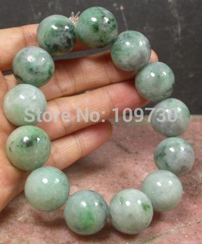 001483 Green 100% Natural A stone stone Bead (A0427) Bracelet001483 Green 100% Natural A stone stone Bead (A0427) Bracelet