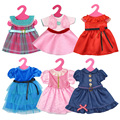 Fashion Doll Dress Package Hip Skirt for Barbie Doll Handmade Dolls Accessories Dresses Set for 16''-18'' American Girl Clothes