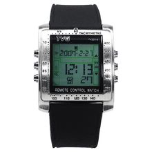 TVG Rectangle Remote Control Digital Sport Watch Men Watches Alarm TV DVD Remote Wristwatch Clock Male