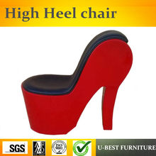 U-BEST high quality Unique Design Accent Chair ,Modern Design High Back Living room High heel Shoe chair(China)