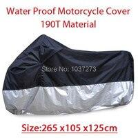 Большой размер 265 * 105 * 125 см мотоцикл покрытие водонепроницаемый пыленепроницаемый скутер крышка ультрафиолетовый скольжению тяжёлый гоно...