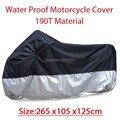 Grande tamanho 265 * 105 * 125 cm motocicleta cobertura impermeável Dustproof Scooter tampa UV resistente pesado corrida de bicicleta capa