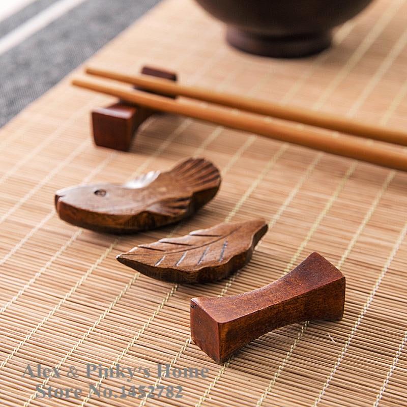 1pc japanese cooking utensils wooden chopsticks holder creative decorative chopsticks pillow care chopstick rest