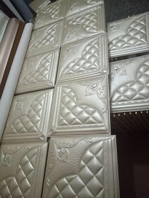 Koreanischen Stil Pu Leder Fliesen Innen Decor D Wandpaneele Kunst - Leder fliesen kaufen