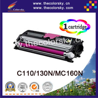(TCO 110) Color toner laserjet printer laser cartridge for OKI C110 MC160N 44250716 44250715 44250714 44250713 (2.5k/2.5k pages)