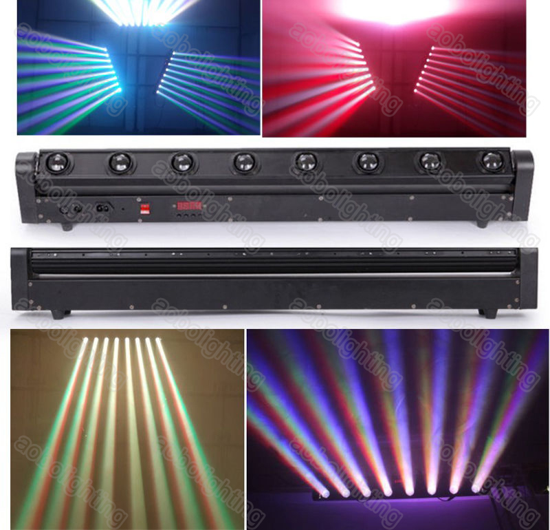 High quality 10W*8PCS 4IN1 RGBW Cree LED Moving Head Beam Bar Light LED Eight Beam Light DMX stage Lighting For Stage Disco Bar