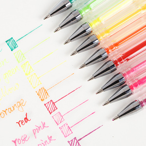 Image 4 - Bgln 24/48/60/100 צבעים ג ל עט סט מילוי ג ל דיו עט מתכתי פסטל ניאון גליטר סקיצה ציור צבע עט אמנות מכתבים