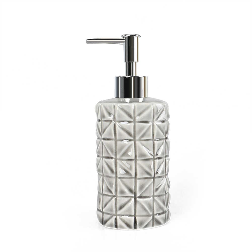 4 sztuk łazienka ceramiczne akcesoria z mydelniczka uchwyt na szczoteczkę do zębów szczotkowanie puchar dozownik mydła w płynie #4