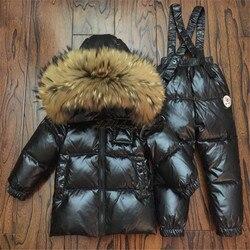 Kinder Winter Unten Kleidung Set Kinder Ski Jacken Und Hosen Overalls Für Jungen Mädchen 0-12 Y Oberbekleidung Mantel kleinkind Schneeanzug