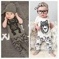 Novo estilo de algodão do bebê do miúdo das meninas dos meninos roupas de verão de manga curta + calças conjuntos Para recém-nascidos do bebê Roupa das Crianças