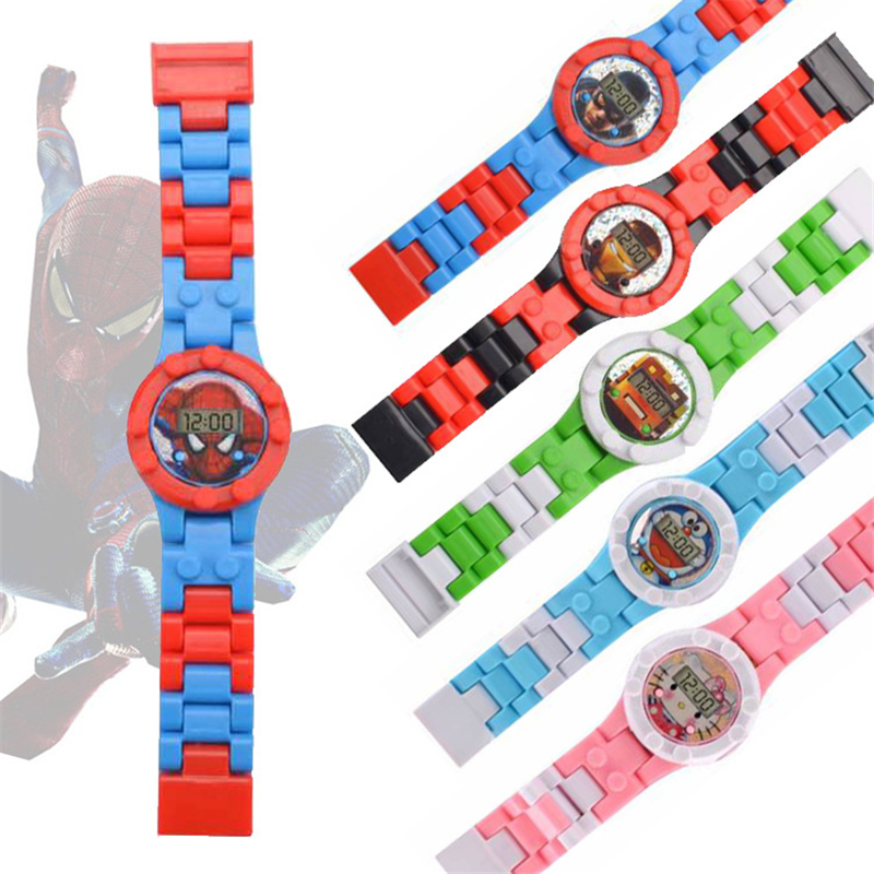 Child Clock Kids Watches LegoED Princess Building Figures Bricks Blocks Watch Children Toys Compatible LegoING Block Watch Kid