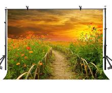 7x5ft Country Trail Backdrop Lush Plant Country Trail Photography Background and Studio Photography Backdrop Props