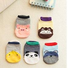 Spring Summer Super Cute Cartoon Baby floor Socks Non-slip Breathable Newborn Striped Cotton Hosieries Infants Animal Ship Socks