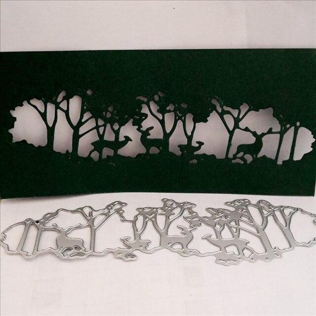 Matrizes de Corte De metal Nova Chegada DIY Scrapbooking Árvore Elk Cervos Do Natal Cartões de Papel Ofício Morre Fazendo Background Frame de Gravação
