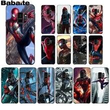 Babaite Marvel Hero Spiderman Transparent TPU Soft Silicone Phone Case Cover for Samsung S6edge S6 edge plus S7 edge S7 S8 S9