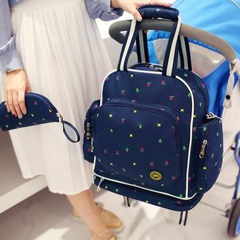 Baby Diaper Bag Backpack with Nursing Bottle Bag Large Maternity Mummy Bag Stroller Handbag for Milk Powder Nappy Baby Clothes