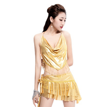 Belly dance practice clothing summer 2017 new practice dress fringed skirt summer sexy sleeveless sling costume 4 colors