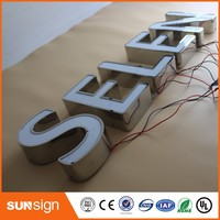Aliexpress Custom publicidad Exterior frontal iluminado signos de letras de canal de Acrílico