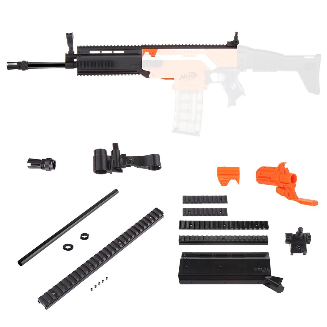 Worker f10555 No.152 STF Barrel Kit for Nerf Stryfe - Black Type B worker f10555 no 152 stf type b set professional toy gun accessories for nerf stryfe black