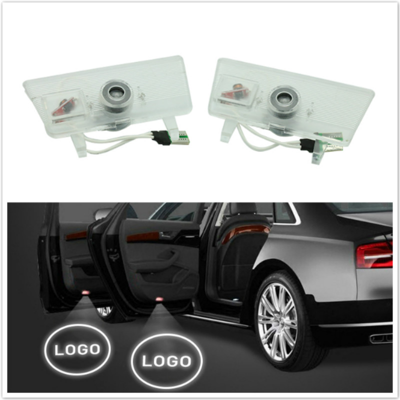 2x LED Car Door Welcome Light Laser Projector Ghost Shadow Warning Lamp For Mazda 6 Atenza  2014 2015 2016 Car Accessories