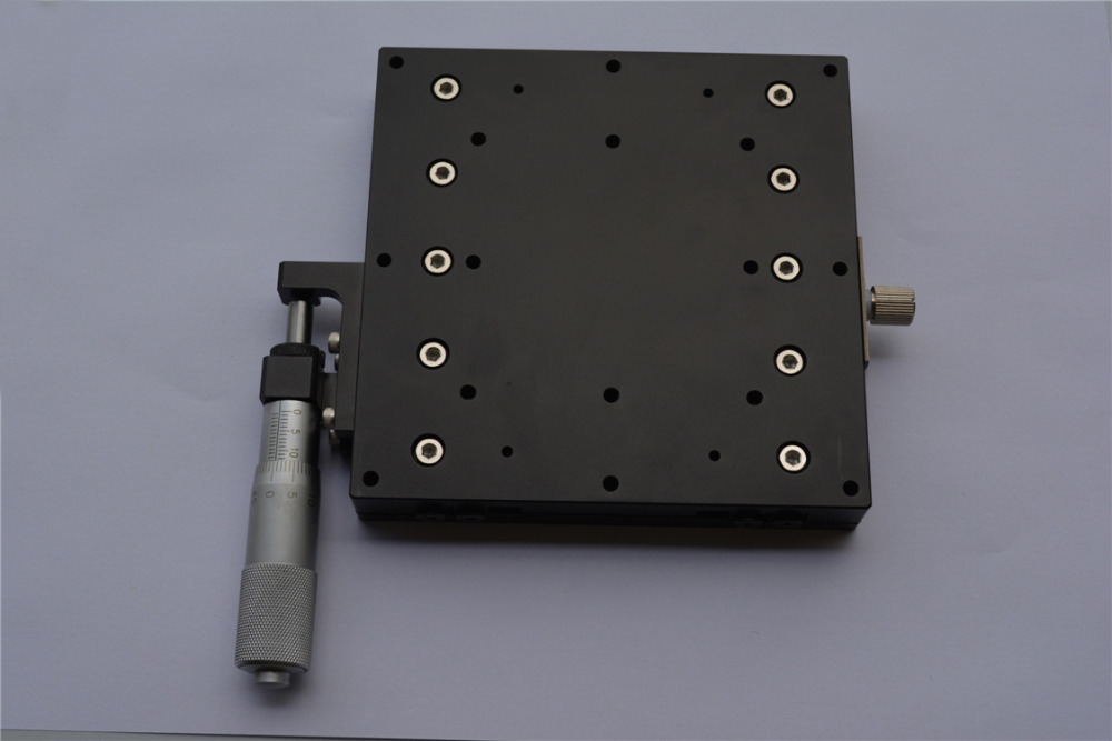 LX125*125L X Axis Manual Fine-tuning Precision Displacement Platform Cross rail slide table Sliding stage 125*125mm yamaha tuning slide brace raw nickel silver