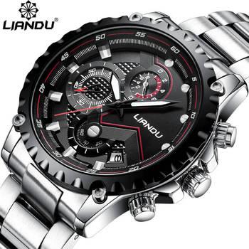 LIANDU Watch Men Luxury Brand Full Steel Business Waterproof Clock Mens Multifunction  Sport Quartz Wirstwatch Relogio Masculino tissot t touch prix