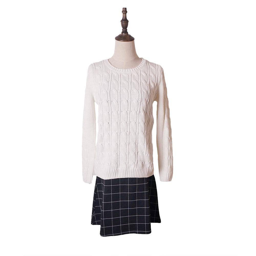 2020 Nový styl podzimní zimní dámská módní trui, o-krk štíhlé dámské svetry a svetry, ležérní pletený svetr femme