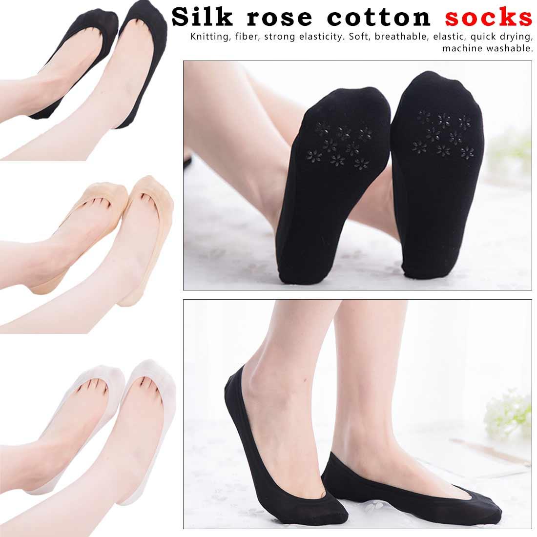 2 Stuks 1 Paar Boot Sokken Voor Vrouwen Slippers Zomer Onzichtbare Sokken No Show Non Slip Siliconen Gel Schoen Voering Vrouw Sokken Calcetines Goedkoopste Prijs Van Onze Site