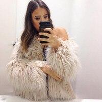 2016 Hot Sale Wide Waisted Faux Fur Coat New Ladies Womens Winter Warm Faux Fur Fox