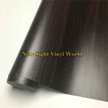 Ebony Wood Textured Grain Vinyl Decal Film Sticker For Floor Furniture Car Interier Size:1.24X50m/Roll(4ft X 165ft)