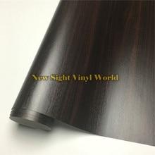 Ebony Wood Textured Grain Vinyl Decal Film Sticker For Floor Furniture Car Interier Size:1.24X50m/Roll(4ft X 165ft)