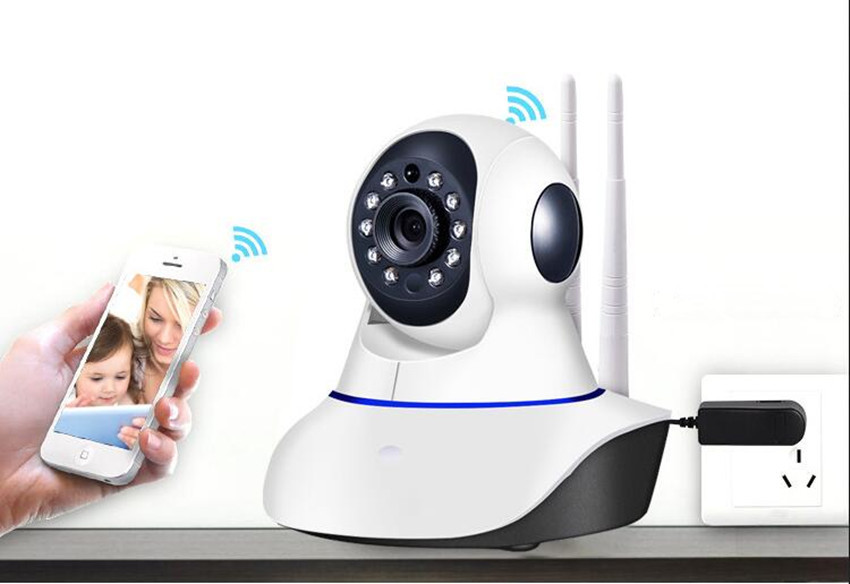 1MP HD 720P PTZ Wifi IP Camera IR-Cut Night Vision Two Way Audio CCTV Surveillance Smart Camera SD Card View 1 4 cmos 720p 1mp security cctv camera two way audio ir cut video surveillance night vision wifi ip camera support 64g tf card