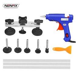 PDR Paintless Dent Repair Tool kit Bridge Removal Puller 20W Hot Melt Glue Stick Glue Gun dent tab Car Body Repair DIY Hand Tool
