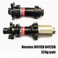 Novatec 323g 스트레이트 풀 411 412 알루미늄 mtb 자전거 자전거 xc racer 디스크 허브 shiman0 또는 S RAM 11 s 용 15mm 12x142mm 스루 액슬 thru axle disc hubstraight pull -