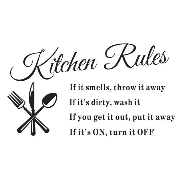Funny Kitchen Rules Words Decal Wall Sticker Vinyl Letter DIY Room Decor Wall Decals Art Home  sc 1 st  AliExpress.com & Funny Kitchen Rules Words Decal Wall Sticker Vinyl Letter DIY Room ...